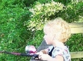 My daughter Elizabeth was 4 at the time of this picture, she was reeling in perch at a local lake. She loves to fish and camp and catch anything that swims
