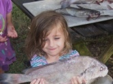 Rebecca caught this nice little gaspergoo at the age of 5. It was her first overnight camping trip.