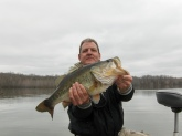 March 15, 2009 at private lake community near Jackson, TN. 8 lb. 6 oz. - biggest bass I ever caught!