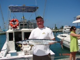 small wahoo caught on 03/04/2009 in Turks and Caicos Islands