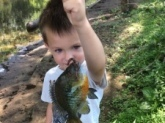 Kaleb & his Papaw like to catch big bluegill, just like Bill does!