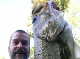 Joey Williams caught this bass from a lake in north Georgia. Measured more than 24 inches in length.