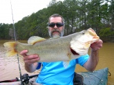 Joey Williams caught this 27-inch bass with a spinner bait from a private north Georgia lake.