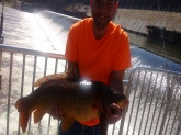 *Caught it at Hinton dam weighted 19.6 pounds