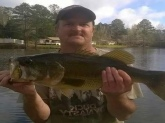 I caught this in Waverly Hall Georgia the lake in front of my house catch and release how you like this one bill I love you show man I wish you'd come down here and fish with me