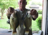 couple of crappie caught in mid july in normandy lake tenn. fishing with my son in law based at arnold air force base.