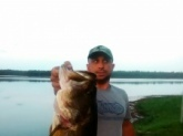11.2  Lake Holley in DeFuniak Springs Fl. Don't let ya frog flip