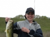This fish was caught on April 4, 2009 in Bells, TX on a private 3 acre pond using June Bug power worms and a Rhino rod and reel! I forgot my fish scale so the exact weight is not known, but it's not too shabby for the first catch of the day!