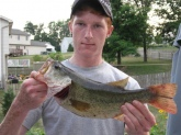 4 pound caught on a 4 inch senko at Middletown Resevoir in Pennsylvania