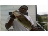 Caught in Frederick, Maryland. At Liberty Town pond. Caught with a small bluegill. About a 7lb bass.