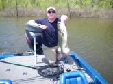 Caught and released 6-7 pounder at Pomme de Terre Lake in Missouri in 2' of water on a 6