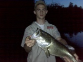 David Hall Matoaca, VA At night.Top water popper 7lbs 8oz
