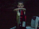 My 7-year-old son, Trey caught this large mouth bass at Mud River Lake in Spurlockville, WV. It was about 20 in. long.