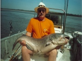 65 pound Blue Cat caught on the Mississippi River out of Tunica with James Patterson