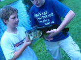 i got to go fishing the next day and i caought this off of brim and i am the one that is wearing the dark blue shirt