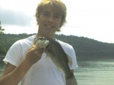 Kaleb McCord caught this 1 1/2 largemouth bass on Aug 12th, 2009 on Old Hickory Lake using a Black Jig with a black crawfish trailer.