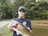 Lake on my land. Caught it on the Strike King Midnight Special Spinner Bait. 12lbs 8oz