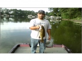 caught on lake shafer 4 Lb smallie