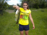 first lunker.. caught it using a 4 in yum dinger. watermellon color.   DINGA! 2 lbs