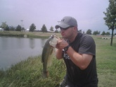 Fish was a fat stubborn monster. It was about 5 lbs but it looks small here. Girls are bad photographers. Plano Texas YMCA pond!