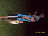 my unle bill helped me reel him in. i had a blast! it weighted 17lb 13oz. thank you uncle bill.