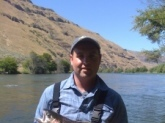 Shinny Steelhead (12 lbs.) caught on the Deschutes River in Oregon.  Fishing with a Lamiglas Rod.  Come enjoy the Northwest...