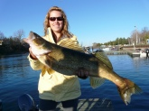 15.2 pound walleye caught in Picton, Ontario, Canada. More photos at my blog ashleymrae.blogspot.com