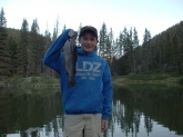 I caught this rainbow trout in Red River NM at the Tall Pine Lodge in Red River.