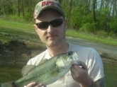 winton oods lake , ohio. caught on a gary dees baby bass color D bait.