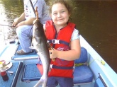 Aubrey's first fish. Caught on the Flint river in Southwest Georgia. Daddy's #1 fishing buddy!!!