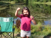 Cloey Ashley With A Nice Bream Caught Off Of A Worm At A Private Pond While Fishing With Family