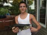 I caught it in my back yard, I live on the river, 2.5-3lbs, on a roster tail spinner.