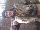 4.14 bass caught in oakwood illinois in december 09