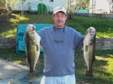 These bass were 6 and 8 lbs. They were caught in a private lake at Wellington, Alabama.
