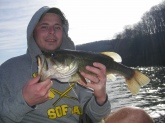 I caught this last April while troling a terminator spinnerbait in a small impound lake in Hansonville VA, at Hidden Valley Lake.  It was 4lbs on the dot.