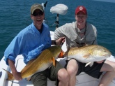 Bill, Here are a couple of Redfish that my son Kendrick and I caught off NASA this week when you and Blair were filming and put Capt. Jim Ross onto that amazing school of redfish.  One of the coolest fishing experiences of our lives.  Thanks again! Best, Dave