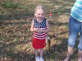 Makayla Brown Landed This 1/2 A Pound Bass At A Private Pond
